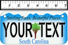 PERSONALIZED ALUMINUM MOTORCYCLE STATE LICENSE PLATE-SOUTH CAROLINA 1998