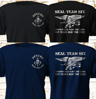 New Navy Seal Team 6 Six Devgru Silver Squadron Navy Black T Shirt S-4XL