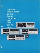 Dual Cassette Deck Original Brochure 810, 820, 830, 839RC