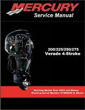 Mercury Verado 200 / 225 / 250 / 275 Outboard Motors Service Manual CD