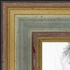 """ArtToFrames Picture Poster Frame  Silver w Gold Accent  1.25"""" Wide Wood 4565"""