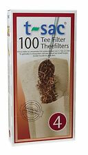 T-Sac Set of 100 Tea Filter Bags, Disposable Tea Infuser, Size 4