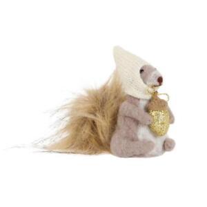 Gorgeous Felt Squirrel with Acorn Sitting Freestanding Christmas Decoration