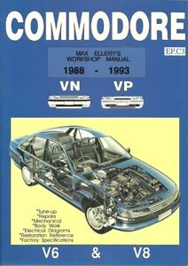 Max Ellery's Commodore Workshop Manual 1988-1993 VN and VP, New, Max Ellery Book