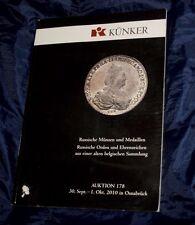 Kunker Ott. 2010 catalogo asta numismatica monete medaglie mondiali Russia....
