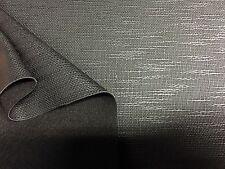 Kunstleder Meterware Schwarz Leinwand Bindung 150cm breit 1000gr/Lfm, 1,20mm