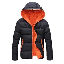 Men Slim Casual Warm Jacket Hooded Winter Thick Coat Parka Overcoat Hoodie BK Y5