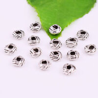 Wholesale 50/500pcs Tibetan silver Loose Spacer Beads Jewelry Findings 6x3mm