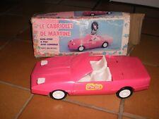 Voiture jouet Le Cabriolet de Martine de 1987 avec sa boite