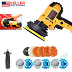 Electric Car Polisher Buffer Sander Waxer Kit 700w with 12pcs Accessories US