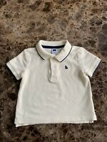 Janie and Jack Yellow Cotton Polo Shirt Size 6-12 Months Baby Boy's EUC Preppy