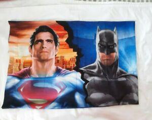 "Batman vs Superman Pillowcase Two sided Heroes Bedding 30""x20.5"""