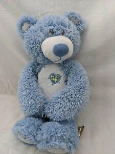 "First & Main Tender Teddy Bear Baby Blue Plush 12"" 2415 2016 Stuffed Animal Toy"