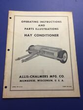 Allis Chalmers Hay Conditioner Operating Instructions Manual