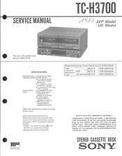 Sony  Original Service Manual für TC-H3700