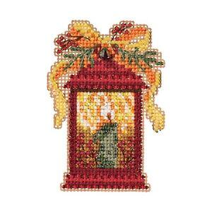 Christmas Lantern Cross Stitch Ornament Kit Mill Hill 2019 Winter MH181934