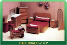 Master Bedroom Dollhouse Furniture Kit - 1/24 Scale by Greenleaf Dollhouses