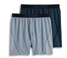Men's Jockey 2-Pack Boxers Briefs (Blue/Navy) No Bunch Boxer Comfort Underwear