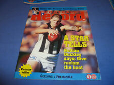 1997 AFL Football Footy Record Rnd 6 Geelong def Fremantle