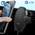 15W QI Wireless Automatic Car Charging Fast Charger Mount Air Vent Phone Holder