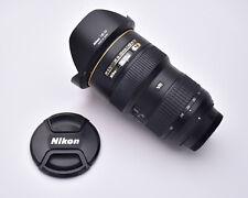 Nikon AF-S NIKKOR 16-35mm f/4 G ED VR Wide Angle Zoom Lens Caps & Hood (#5205)