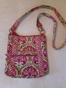 Vera Bradley Pink Floral Crossbody/Shoulder Bag - Great Condition
