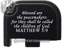 for Glock 42 ONLY Rear Slide Cover Plate .380 Cal G42 Black Bible Matthew 5:9