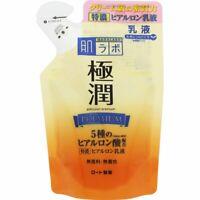 ROHTO HADALABO GOKUJYUN PREMIUM Hyaluronic Acid Milk Refill 140ml Japan f/s