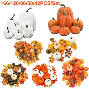 Artificial Pumpkin Decoration Harvest Fall Wreath Banquet Halloween Decorations