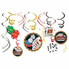 Casino Night Hanging Swirl Decoration  ~12 BIRTHDAY Party Supplies Roll the Dice