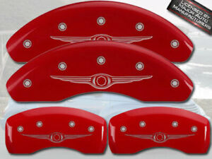 "2004-2008 ""Chrysler"" Crossfire Front + Rear Red MGP Brake Disc Caliper Covers"