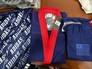adidas Stars & Stripes A1.5 Jiu Jitsu Gi Navy Blue w/Gi Bag