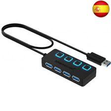Sabrent Concentrador USB 3.0 con 4 Puertos con interruptores de alimentación