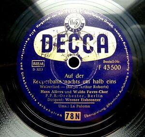 0222/ HANS ALBERS-La Paloma-Auf der Reeperbahn nachts um halb eins-78 Schellack