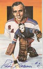 Eddie Giacomin Autographed Hockey Legends Card HOFer