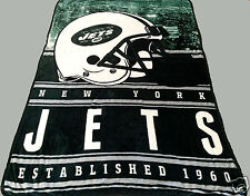 New York Jets blanket bedding 80x56 SILK type  Free shipping  NFL football twin