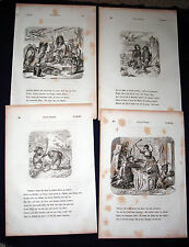 REYNARD-REINEKE FUCHS-FOX-DOCTOR-FABLE -Goethe 1857 Woodcut Prints Set 3