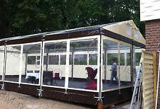 Festzelt Partyzelt PROFIZELT 6x15m / 5x Dachfenster / creme-braun