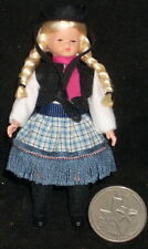 Miniature Doll Caco Cowgirl Child 1:12 Scale /Germany Texas Western Halloween