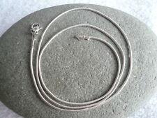 3 x délicat collier pendentif chaîne serpent aspect argent 42 cms