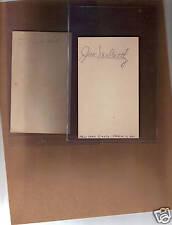 Johnny Jack McCarthy signed auto 3X5 Index Card JSA