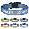 Reflective Personalised Dog Collar Embroidered Name Phone Number Boy Girl Collar