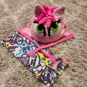 Pinky Pie My Little Pony Hand Crocheted Winter Hat And Scarf