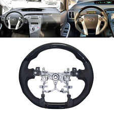 Piano Black Leather Sports Steering Wheel for 2010-2015 Toyota PRIUS Hybrid