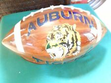 Handcrafted  Cedar  Wood Football AUBURN UNIVERSITY....WAR EAGLE  .. w/Stand