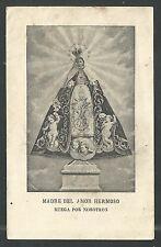 santino antico de la Madonna del Amor Hermoso image pieuse holy card estampa