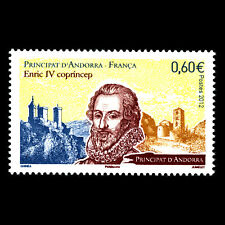 Andorra 2012 - King Enric IV - Joint Issue with France Royalty - Sc 710 MNH