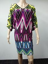 NEW - Maggy London - Size 10 - Printed Digital Multicolor Dress - $108