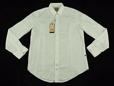 "BNWT Hugo Boss ""CliffE"" Solid White Standard Dress Shirt Size L 100% Authentic"