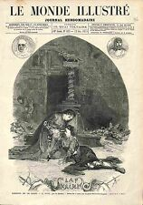 La Haine (Victorien Sardou) Orso et Cordelia Drame Theatre GRAVURE PRINT 1874